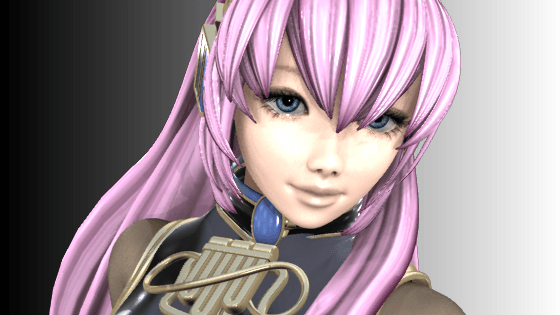 Megurine Luka 3D for Shade
