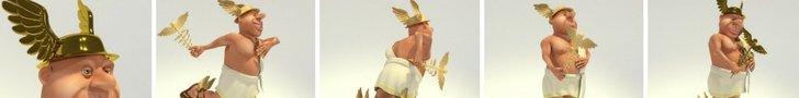 Toon Hermes Character 3D Model Released