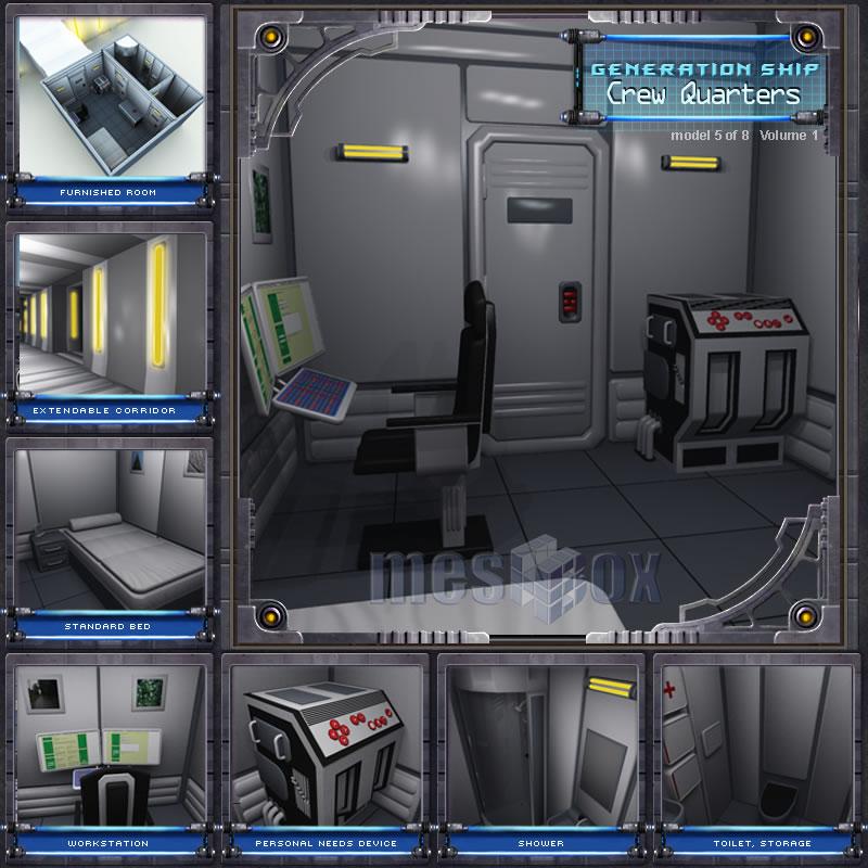 Generation Ship Crew Quarters