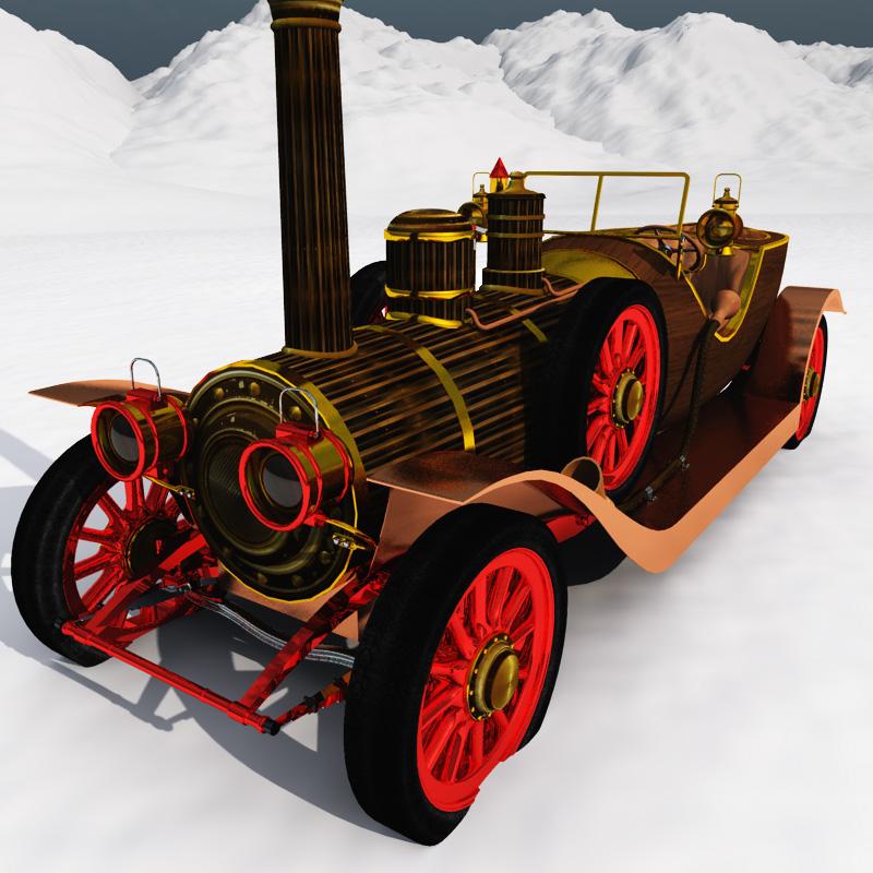 Steampunk Christmas Car