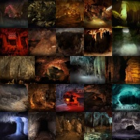 Caves and Caverns Backgrounds Volume 1
