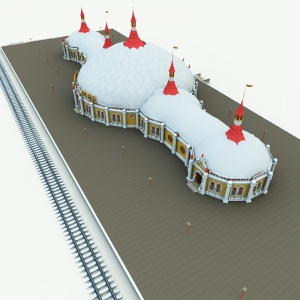 North Pole Christmas Train Station