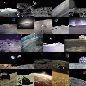 Lunar Backgrounds Volume 1