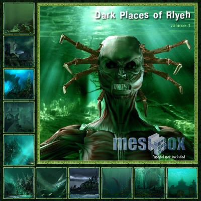 Dark Places of Rlyeh Backgrounds Volume 1