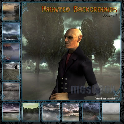 Haunted Backgrounds Volume 1