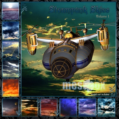 Steampunk Skies Backgrounds 1