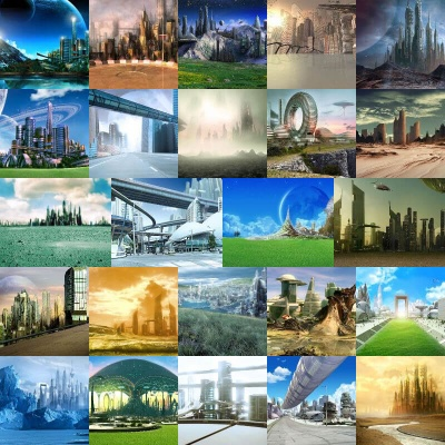 Sci-Fi City Backgrounds Volume 1
